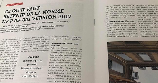 La 03-001 version norme P Nouvelle de NF