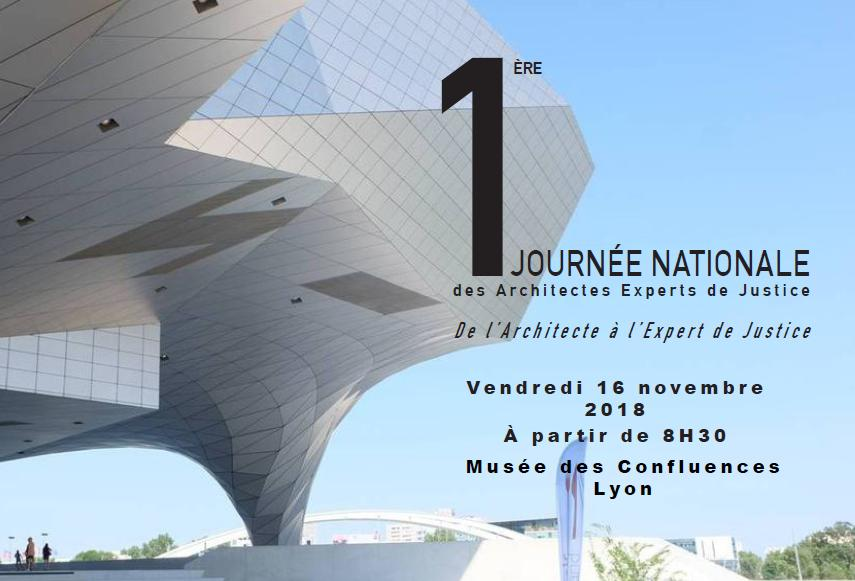 1ère journée nationale des architectes experts de justice